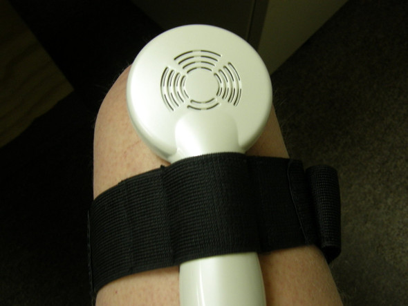 SPL Nuve Strap In Use on Knee