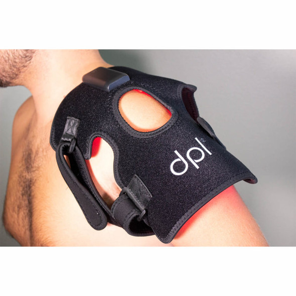 dpl® Joint Wrap—Pain Relief in use on shoulder