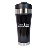 Capital Teas Stainless Steel Travel Tumbler (Black)