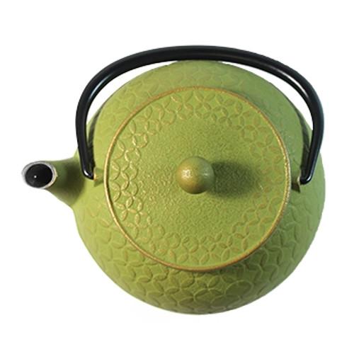 Grass Green Seven Jewels Cast Iron Teapot - 20 oz.