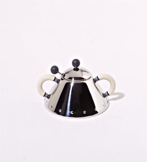 Alessi Sugar Bowl, Michael Graves design, blue handle