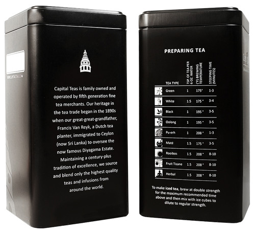 "Capital Teas Tin (3.5"" x 3.5"" x 6.875"")"