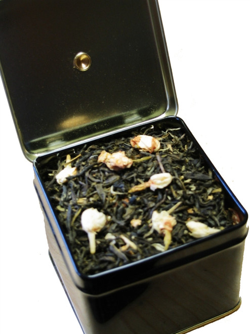 Small Hinged Tea Tin (hold 2 oz. tea)