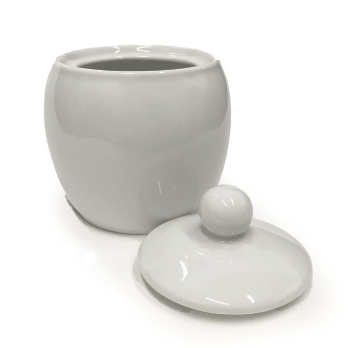 White Porcelain Sugar Bowl With Lid