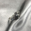 925 Sterling Silver Irish Claddagh Heart Celtic Knot Promise Ring