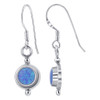 Blue Fire Opal Drop Earrings