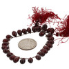 Faceted Garnet Teardrop Beads