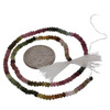 Multi-colored Tourmaline Israel Cut Beads