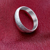 Sterling Silver Dust Texture Band