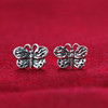925 Sterling Silver 10mm Butterfly Post back Kids Stud Earrings