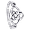 925 Sterling Silver Celtic Rounded Knot Design Ring