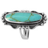 925 Sterling Silver Reconstituted Turquoise Ornate Ring