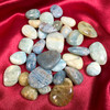Aquamarine Tumbled Stones with Varying Color Tones
