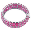 128 CTW Combodian Oval Ruby Openable Bangle Bracelet in Sterling Silver