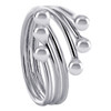 wrap around with ball Ring