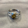 Oval Genuine Citrine Gemstone Rings