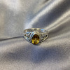 925 Sterling Silver Oval Genuine Citrine Gemstone Rings