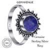 Lapis Gemstone Retro Style Womens Ring