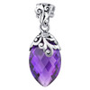Marquise Shape Simulated Amethyst Pendant