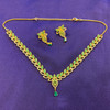 Gold Plated Necklace Earrings Set