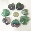 Fluorite Gemstone 30mm Puff Hearts