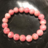 Rhodochrosite Gemstone Stretch Bracelet