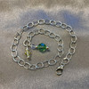 Made with Swarovski Elements Multicolor Crystal 925 Silver Anklet 9 - 10 inch