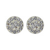 Clear Studded 925 Sterling Silver Earrings