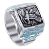 Men's Turquoise Gemstone Sterling Silver Ring
