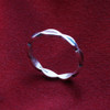 Turquoise and Coral Gemstone Sterling Silver Band Ring