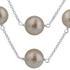 White Simulated Pearl Sterling Silver Necklace