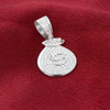 Sterling Silver Cubic Zirconia Money Bag Pendant