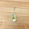 Clear AB Crystal Sterling Silver Pendant