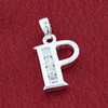 Round CZ Sterling Silver Initial P Pendant
