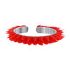 925 Sterling Silver Red Rubber Toe Ring