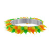 Sterling Silver Green Orange and Yellow Rubber Toe Ring