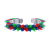 Sterling Silver Multicolor Rubber Toe Ring