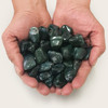 Moss Agate Heated Tumbled Stones Healing Crystal Home Decoration