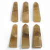 ONE Piece of Self Standing Polished Honey Calcite Crystal Wand Obelisk Tower 9.8 Oz