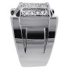 Stainless Steel Micro Pave Set Clear Cubic Zirconia Ring