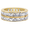 18k Gold Layered Clear Cubic Zirconia Dual Eternity Band