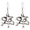 Zinc Dangle Earrings