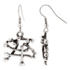 Zinc Chinese Text Like Design French Wire Dangle Earrings