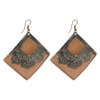2.5 Square Designer Fashion Drop Earrings with French Wire Findings
