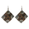2 inch Square Designer Fashion Drop Earrings with French Wire Findings