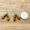 925 Sterling Silver  Freshwater Pearl and Crystal Dangle Earrings
