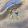 Coral and Turquoise Stud Earrings