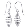 925 Sterling Silver Dangling Coil Spring Drop Earrings