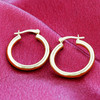 18k Gold Layered Hoop Earrings