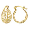 Filigree Design Hoop Earrings